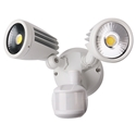 Picture of Fortress II 30W Tricolour LED Double Exterior Security Light With PIR Sensor (MLXF3452S) Martec