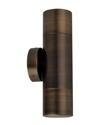 Picture of Antique Brass 240V GU10 Exterior Wall Pillar Light (PGUDBR) CLA Lighting