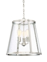 Picture of Lauren 48cm 3 Lights Pendant with Clear Seeded Glass MDA Lighting