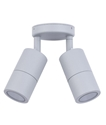 Picture of Exterior Silver 240V Double Adjustable Wall Pillar Light (PG2ASIL) CLA Lighting