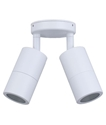 Picture of Exterior White 240V Double Adjustable Wall Pillar Light (PG2AWH) CLA Lighting