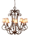 Picture of Jameson 8 Light Pendant With Shades (DO5047/P8/Shade) MDA Lighting