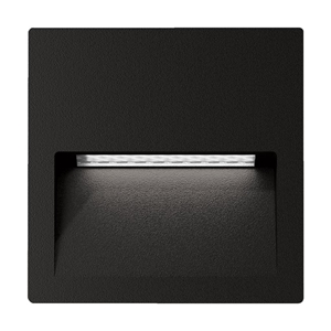 Picture of ZAC-4 4W Black Square Recessed LED Wall Light IP65 240V (19735 19736) Domus Lighting