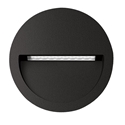Picture of ZAC-4 4W Black Round Recessed LED Wall Light IP65 240V (19727 19728) Domus Lighting