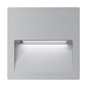 Picture of ZAC-4 4W Silver Square Recessed LED Wall Light IP65 240V (19739 19740) Domus Lighting