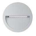 Picture of ZAC-4 4W Silver Round Recessed LED Wall Light IP65 240V (19731 19732) Domus Lighting