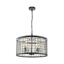 Picture of Delaware 52cm 3 Light Pendant Matt Black (SL64352BK) Oriel Lighting