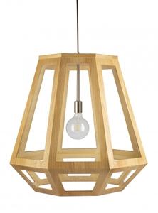 Picture of Santon Large 1 Light Timber Pendant (SANTON-75) Fiorentino Lighting