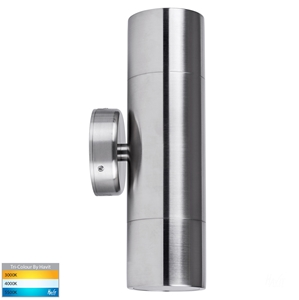 Picture of Exterior 316SS 240V Up/Down Wall Pillar Light With LED Globes (HV1007GU10T) Havit Lighting