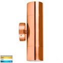 Picture of Exterior Solid Copper 240V Up/Down Wall Pillar Light With LED Globes (HV1017GU10T) Havit Lighting