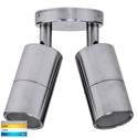 Picture of Exterior 316SS 240V Double Adjustable Wall Pillar Light With LED Globes (HV1307GU10T) Havit Lighting