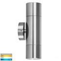 Picture of Exterior Titanium Coloured Aluminium 12V Up/Down Wall Pillar Light With LED Globes (HV1087MR16T) Havit Lighting