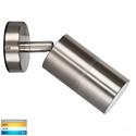 Picture of Fortis Exterior Stainless Steel 240V Single Adjustable Wall Pillar Light With LED Globe (HV1272T) Havit Lighting