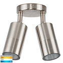 Picture of Fortis Exterior Stainless Steel 240V Double Adjustable Wall Pillar Light With LED Globes (HV1372T) Havit Lighting