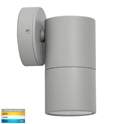 Picture of Exterior Silver 240V Single Fixed Wall Pillar Light With LED Globe (HV1147GU10T) Havit Lighting