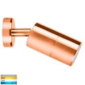 Picture of Exterior Solid Copper 240V Single Adjustable Wall Pillar Light With LED Globe (HV1217GU10T) Havit Lighting