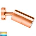 Picture of Exterior Solid Copper 12V Single Adjustable Wall Pillar Light With LED Globe (HV1217MR16T) Havit Lighting