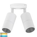 Picture of Exterior White 240V Double Adjustable Wall Pillar Light With LED Globes (HV1335T) Havit Lighting