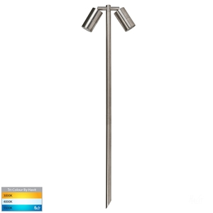 Picture of Tivah Exterior 316SS 12V Double Adjustable 1000mm Spike Spotlight With LED Globes (HV1405T-SS316) Havit Lighting