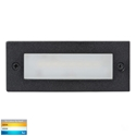 Picture of Bata Exterior Black Recessed Open Face 12V 6W LED Bricklight (HV3005T-BLK-12V) Havit Lighting
