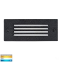 Picture of Bata Exterior Black Recessed Grill Face 12V 6W LED Bricklight (HV3006T-BLK-12V) Havit Lighting
