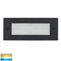 Picture of Bata Exterior Black Recessed Open Face 12V 3W LED Bricklight (HV3007T-BLK-12V) Havit Lighting