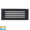 Picture of Bata Exterior Black Recessed Grill Face 12V 3W LED Bricklight (HV3008T-BLK-12V) Havit Lighting