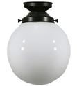 "Picture of  6"" Sphere Patina Black Batten Fix (3020015) Lighting Inspirations"