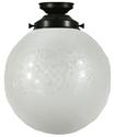 "Picture of  Sheffield 10"" Patina Black Batten Fix (3020021) Lighting Inspirations"