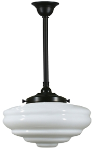 Picture of  Chateau 1 Light Rod Patina Black Pendant (3020130) Lighting Inspirations
