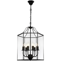 Picture of Arcadia 6 Light Black Pendant (ARCA6PBLK) Cougar Lighting