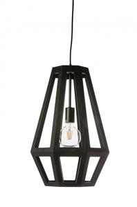 Picture of Santon Medium 1 Light Timber Pendant (SANTON-35) Fiorentino Lighting