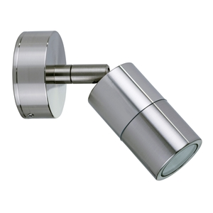 Picture of Mini Tivah 316 Stainless Steel Single Adjustable Wall Pillar Light (HV1207MR11NW) Havit Lighting
