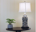 Picture of Dorne Silver Classic Antique Cut Lamp with Harp Shade ( OL97976AS) Oriel Lighting